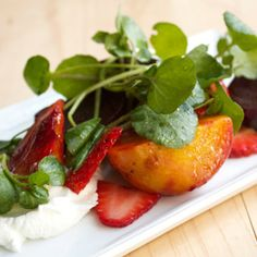 Roasted Beets and Strawberries with Yogurt and Watercress Recipe - Edamam