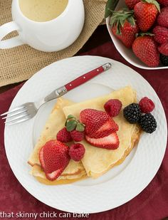 Butter and Rum Crêpes | That Skinny Chick Can Bake | http://thatskinnychickcanbake.com