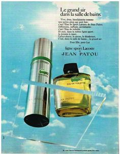 PUBLICITE ADVERTISING 0105  1970  JEAN PATOU  eau de toilette homme