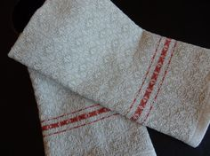 Hand Woven Towel in Organic Cotton with Handspun Cotton