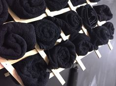 Salon towel rack holder DIY