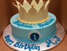 Calumet Bakery 1st Birthday Cake With Crown For Boy Cakes
