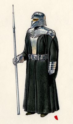 Imperial Guard concept art by Ralph McQuarrie - Return of the Jedi Star Wars Sith, Star Wars Rpg, Clone Wars, Star Trek, Tableau Star Wars, Star Wars Characters Pictures, Star Wars The Old, Star Wars Design, Star Wars Concept Art