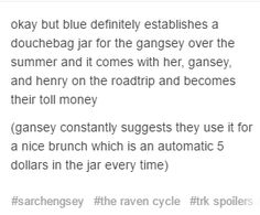 Hahaha - The Raven Cycle