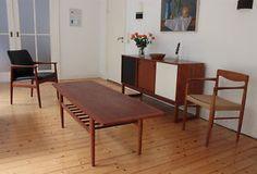 Grete Jalk Coffee Table - Teak Couchtisch - Glostrup Denmark