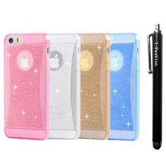 iPhone 6 Case,I-Fashion iPhone 6 (4.7) Case 4pcs /lot candy color [Ultra sparkle Series] [ Clear] TPU sparkle Waistline case for apple iphone 6 4.7inch-- gold+silver+blue+pink