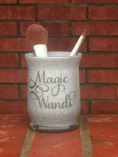 Hey, I found this really awesome Etsy listing at https://www.etsy.com/listing/506983075/glitter-makeup-brush-holder-magic-wands