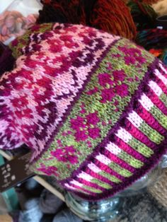 """Fair Isle Hat from the book """"I Can't Believe I Am Fair Isle Knitting"""" made by Robin"""