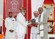 Shriji Arvind Singh Mewar of Udaipur, Chairman and Managing Trustee, Maharana of Mewar Charitable Foundation (MMCF) presenting Maharana Mewar Award to Dr. Laxman Singh Rathore  Venue: The Manek Chowk, The City Palace, Udaipur  Know more about awards - http://www.eternalmewar.in/collaboration/awards/index.aspx  #MMFAA2016 #MMFAA #MMCF #Awards #MaharanaOfMewarCharitableFoundation #MaharanaMewarFoundationAnnualAwards #UdaipurAwards #EternalMewar #Mewar #Udaipur #Rajasthan #India
