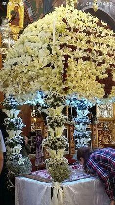 Religion, Greek, Christmas Tree, Holiday Decor, Flowers, Icons, Teal Christmas Tree, Xmas Trees, Christmas Trees