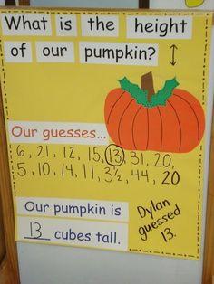 Under The Big Top: Apples make ahead anchor charts -- laminate -- and use each year. Fall Preschool, Kindergarten Science, Kindergarten Classroom, Teaching Math, Teaching Ideas, Preschool Graphs, Preschool Plans, Kindergarten Projects, Math Projects