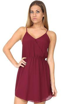 Burgandy Crossover Dress at Blush Boutique Miami - ShopBlush.com