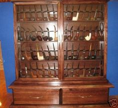 56 Pipe Rack Display Cabinet Churchwarden Item  192B