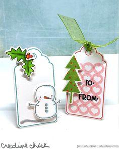25 Days of Christmas Tags, Simon Says Stamp - {creative chick}   shurkus.com