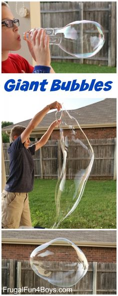Giant Bubble Solution Recipe, and Homemade Bubble Blowers