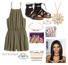 """""""Untitled #294"""" by rikey-byrnes on Polyvore featuring H&M, Stella & Dot, Mixit, Kate Spade, Diamonore and New Look"""