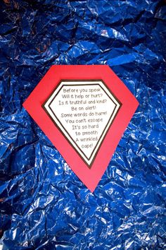 """First Grade Wow--Superhero version of """"wrinkled heart"""" lesson: """"wrinkled cape"""""""