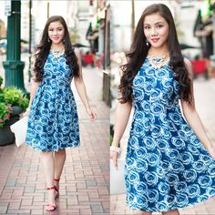 8 Rue Pomme Floral Fit and Flare Dress http://www.lynnegabriel.com/?p=22985