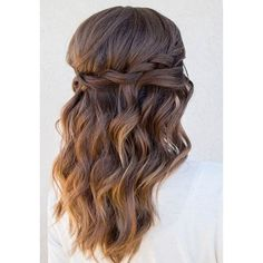 26 Stunning Half Up, Half Down Hairstyles ❤ liked on Polyvore featuring beauty products, haircare, hair styling tools and hair