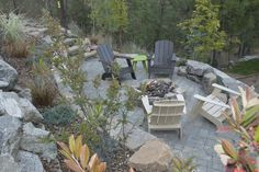 spokane-furniture-Landscape-Traditional-with-Adirondack-chairs ...