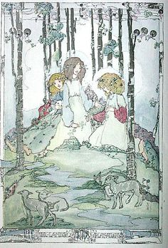 Illustration by Jessie M. King from the Christmas supplement to The Studio, December, 1913.