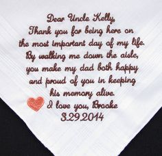 Uncle of the Bride Embroidered Wedding by InspiredStitches on Etsy, $25.00