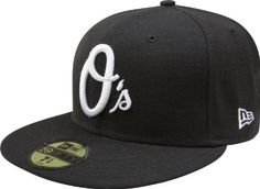 dfbd5afda7d MLB Baltimore Orioles Black with White 59FIFTY Fitted Cap by New Era.   24.49. 100% Wool. Embroidered Team logo in raised embroidery at front.