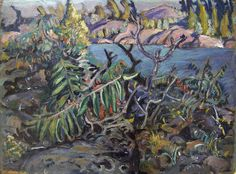 Arthur Lismer, 'Georgian Bay' at Mayberry Fine Art 12 x 16 Group Of Seven Artists, Group Of Seven Paintings, Paintings I Love, Oil Paintings, Abstract Landscape Painting, Landscape Art, Landscape Paintings, Emily Carr, Canadian Painters