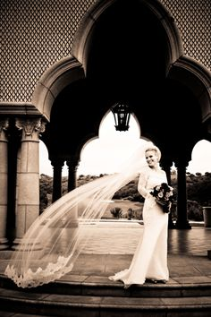 I love the arches and the veil in this photo.