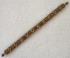 Linda's Crafty Inspirations: Bracelet of the Day: Tweaked Stacker - Milky Alexandrite