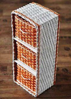 cesteria en papel de revista pinterest BANDEJAS - Buscar con Google