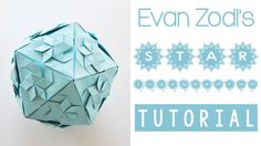 Origami Star Icosahedron Tutorial - 20 units from rectangular paper with a ratio of 1:1.1547 or greater.