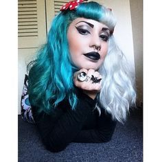 white split dye hair - Google Search