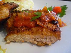 Χοιρινό σνίτσελ με τσιγγάνκη σάλτσα της Έφης Meatloaf, Food, Essen, Meals, Yemek, Eten