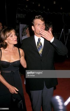 Jennifer Grey and Patrick Swayze during Anniversary of 'Dirty Dancing' at Cineplex Odeon Century Plaza Cinema in Century City, California, United States. Dancing Baby, Dirty Dancing, Patrick Wayne, Jennifer Grey, Richard Gere, Dance Photos, Couple Aesthetic, 10 Anniversary, Dancing With The Stars