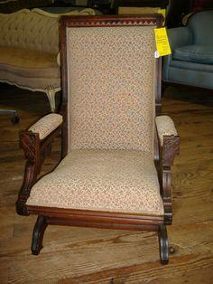 Eastlake Platform Rocking Chair Vintage Walnut East Lake Rocker ...