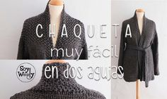 Cómo tejer una chaqueta/abrigo/saco en dos agujas. INTRO