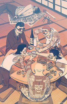 Juxtapoz Magazine - The Work of Ryan Andrews #yakuza