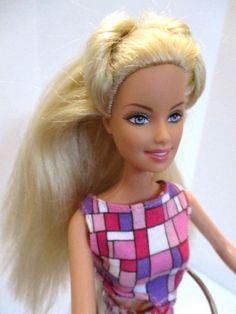 Barbie doll long blonde hair Pink barbie dress & Pink high heels  #Barbie