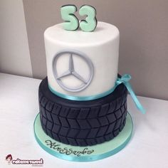 Mercedes themed cake for a 53rd man birthday