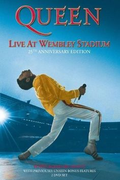Now Queen's legendary Wembley concerts are being reissued as a 2 DVD anniversary edition! Title: Live at Wembley. Region: DVD: 1 (US, Canada. Top Movies, Movies To Watch, Tv Spielfilm, Live Aid, Hollywood Records, A Kind Of Magic, Queen Freddie Mercury, Wembley Stadium, British Invasion