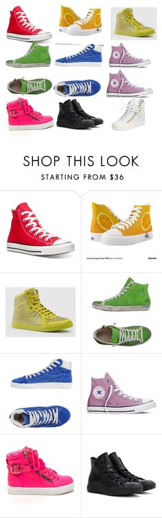"""""""High tops"""" by miss-perfiet on Polyvore featuring Converse, Gucci, LEATHER CROWN, Springa and Giuseppe Zanotti"""