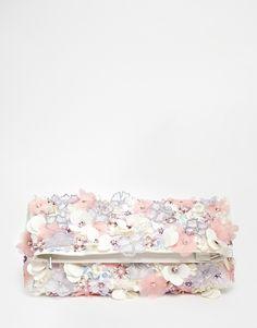 Image 1 - ASOS - Pochette ornée de fleurs à guipures