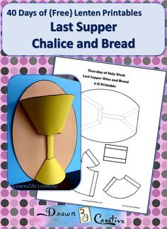A last supper craft to make a 3-D Chalice and Bread! Make it as a stand alone craft or add it to your Holy Week Mobile!