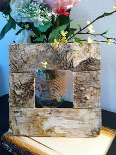 Unique Birch Bark  Photo Frame Perfect for by angisweddingchic, $24.50