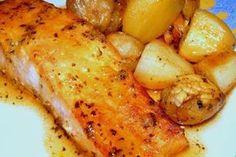receita de salmão com mel e mostarda