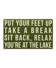 At The Lake Sign
