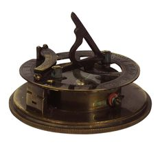 """Sundial One Year Compass in Brass with Lid – 3"""" Magnetic Device with Engraved Imprint of Scale - Retro-Look Collectibles / Gifts from India - Buy in Bulk Wholesale"""