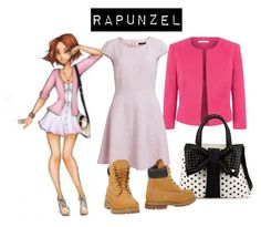 """""""rapunzel"""" by sshedenah ❤ liked on Polyvore featuring Fenn Wright Manson, VILA, Betsey Johnson and Timberland"""