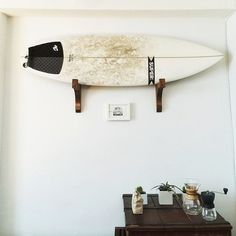 Surfboard hanging
